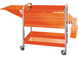 【組立・輸送等の都合で納期に4週間以上かかります】 BAHCO/バーコ 【代引不可】ロールカート3段引き出し+2トレイ オレンジ 1470KC5
