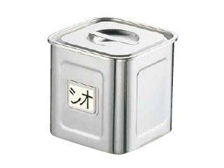 Sampo/三宝産業 18-8名札付き深型角キッチンポット/(手付) 30cm