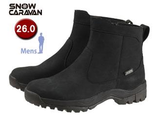SNOW CARAVAN/スノーキャラバン 0023120 ウィンターシューズ SHC-20レザー (ブラック)【26.0】【男性用】