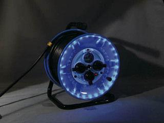 NICHIDO/日動工業 防雨型電工ドラム LEDラインドラム 青 NPWL-EB33-B