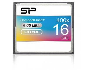 UDMA対応。高速転送・連写・動画撮影に適した仕様。RoHS指令準拠。 Silicon Power/シリコンパワー コンパクトフラッシュ 16GB 400倍速 永久保証 SP016GBCFC400V10