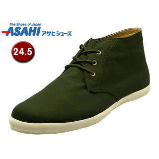 ASAHI/アサヒシューズ AX11224 アサヒウォークランド 037GT レインスニーカー 【24.5cm・2E】 (カーキ)