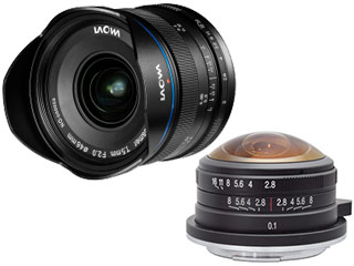 【納期1月中旬以降】 LAOWA/ラオワ LAOWA 7.5mm F2 MFT+ 4mm F2.8 Fisheye MFTセット