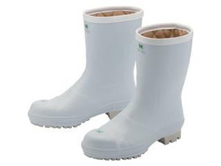 MIDORI ANZEN/ミドリ安全 氷上で滑りにくい防寒安全長靴 FBH01 ホワイト 25.0cm FBH01-W-25.0