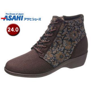 ASAHI/アサヒシューズ KS23421 快歩主義 L126AC レディース カジュアルブーツ 【24.0cm・3E】 (ブラウン)