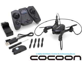 G-FORCE/ジーフォース 【cocoon/コクーン】自動高度維持機能搭載Wi-Fiカメラ内蔵ドローン GB370 ブラック