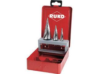 RUKO/ルコ 2枚刃スパイラルステップドリルセット 3本組 コバルトハイス 101026E