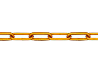 NISSA/ニッサチェイン アルミ金リンクチェイン 5.0mmX15M AL50 GOLD