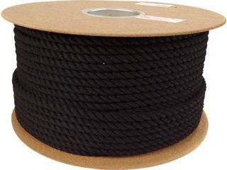yutaka/ユタカメイク ロープ 綿ロープドラム巻 9φ×100m ブラック PRC-51