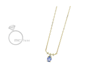 me.luxe/エムイーリュークス バースデーストーン 【12月】 ネックレス K10 お誕生日 誕生石 バースデー ネックレス ペンダント ジュエリー ジュエリー プレゼント ギフト 包装 記念日