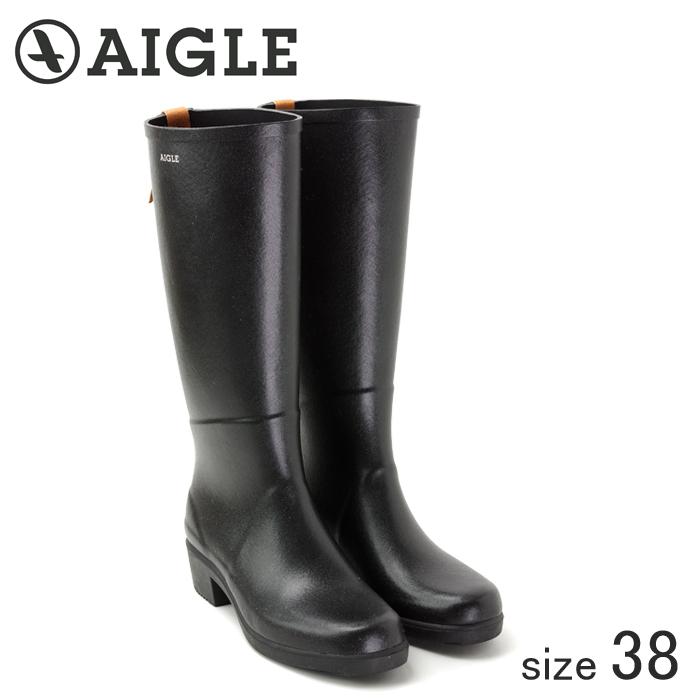 ≪正規品≫ AIGLE/エーグル ラバーレインブーツ MISS JULIETTE A (NOIR ノワール/サイズ38:24.0cm)