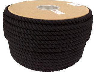 yutaka/ユタカメイク ロープ 綿ロープドラム巻 12φ×100m ブラック PRC-61