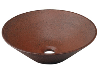KAKUDAI/カクダイ 493-037-M 丸型手洗器 (窯肌)