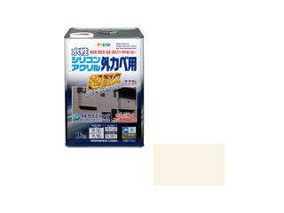 ASAHIPEN/アサヒペン 水性シリコンアクリル外かべ用 16kg アイボリー