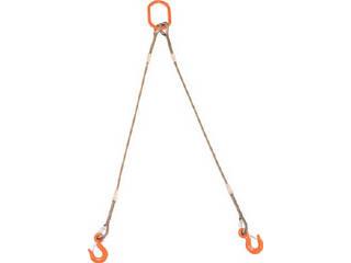 TRUSCO/トラスコ中山 2本吊りWスリング フック付き 12mmX1.5m GRE-2P-12S1.5