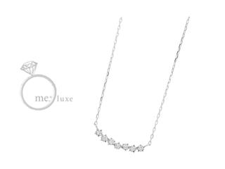 me.luxe/エムイーリュークス K10ホワイトゴールド スターモチーフ ネックレス ダイヤモンド ダイヤ 高級 ネックレス ペンダント ジュエリー ジュエリー プレゼント ギフト 包装 記念日