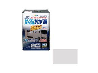 ASAHIPEN/アサヒペン 水性シリコンアクリル外かべ用 16kg ソフトグレー