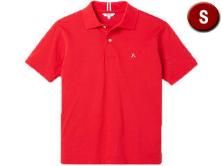 AIGLE/エーグル 半袖ポロシャツ エーグルロゴ Sサイズ (ROUGE) ZPH010J-201