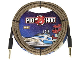 """世界最強コスパケーブルPIG HOG日本上陸 PIG HOG PCH10TBR ギターケーブル 10ft Brown"""" Vintage Series 大規模セール """"Tuscan Cable Inst 正規品送料無料"""