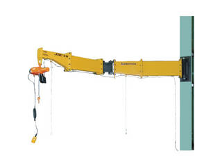 SUPERTOOL/スーパーツール 【代引不可】ニ速型電動チェーンブロック付ジブクレーン 柱取付・ボルト・ナット型 JBCT1520HF