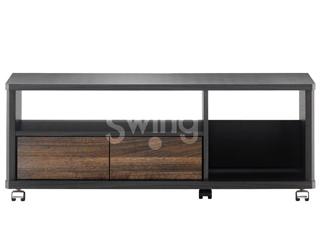 ASAHI/朝日木材 AS-EE980 テレビ台 Swing 20kg以下 ~43V型対応 EE style ※要組立商品 ハーフオープンタイプ