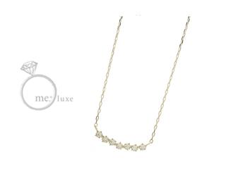 me.luxe/エムイーリュークス K10 スターモチーフ ネックレス ダイヤモンド ダイヤ 高級 ネックレス ペンダント ジュエリー ジュエリー プレゼント ギフト 包装 記念日