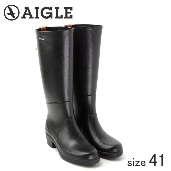 ≪正規品≫ AIGLE/エーグル ラバーレインブーツ MISS JULIETTE A (NOIR ノワール/サイズ40:25.5cm)