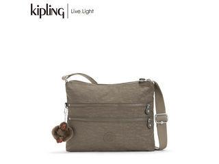 KIPLING/キプリング ALVAR/アルバー 斜めがけショルダー バッグ (True Beige/トゥルーベージュ) 《正規代理店品》【ラッピング無料】