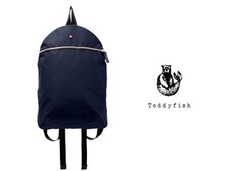 teddyfish/テディフィッシュ ♪ナイロンスモールバックパック【ネイビー】■撥水軽量