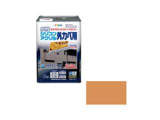 ASAHIPEN/アサヒペン 水性シリコンアクリル外かべ用 16kg ラフィネオレンジ