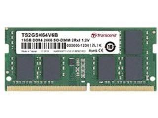 トランセンド・ジャパン TS2GSH64V6B 16GB DDR4 2666Mhz SO-DIMM 2Rx8 1Gx8 CL19 1.2V