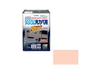 ASAHIPEN/アサヒペン 水性シリコンアクリル外かべ用 16kg ティントローズ