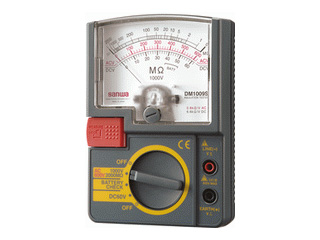 sanwa/三和電気計器 DM1009S 絶縁抵抗計/小型単レンジ式 / アナログ
