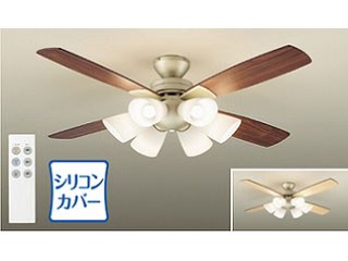 DAIKO/大光電機 ASL613 LEDシーリングファン 【表:ダーク色/裏:ホワイトウッド色】【~8畳】ランプ・リモコンスイッチ付