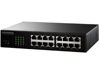 I・O DATA アイ・オー・データ ギガビット対応16ポートスイッチングハブ ETG-ESH16NC