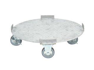 SAKAE/サカエ 【代引不可】円形ドラム台車 ステンレスタイプ SDR-5