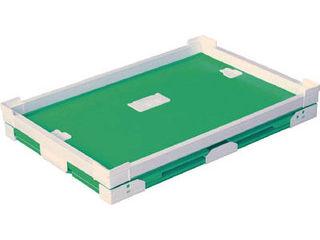 KUNIMORI/国盛化学 プラダン折畳み FNSコンテナ 75L(SWコーナー)ライトグ 79501-FNS75L-LG