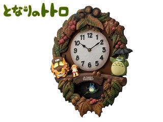 RHYTHM/リズム時計 4MJ429M06 トトロM429 クオーツ掛時計 小トトロ飾り振子付/メロディ (c)Studio Ghibli (c)Studio Ghibli