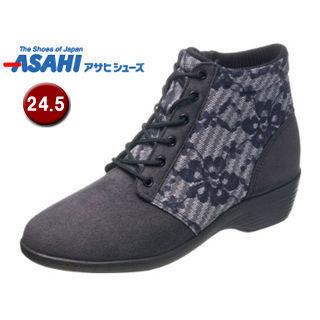 ASAHI/アサヒシューズ KS23422 快歩主義 L126AC レディース カジュアルブーツ 【24.5cm・3E】 (グレー)
