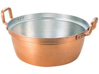 MARUSHIN/丸新銅器 銅 段付鍋 錫引きあり 48cm