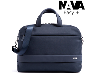 NAVA DESIGN/ナヴァデザイン 2WAYブリーフケース【ナイトブルー】着脱ショルダー付■EASY+/Briefcase Slim(EP019NB)
