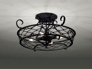 ENDO/遠藤照明 XRG4024X LEDシーリングライト 古味仕上(黒)【電球色】ランプ付