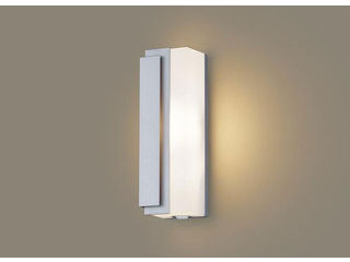 Panasonic/パナソニック LGWC81440LE1 LEDポーチライト シルバーメタリック【電球色】【左側遮光】【明るさセンサ付】【壁直付型】