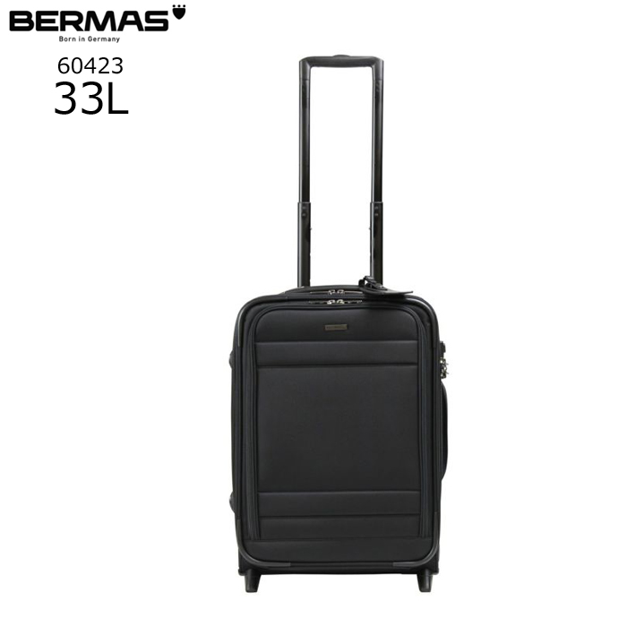 BERMAS/バーマス 60423 FUNCTION GEAR 縦型スーツケース(ブラック)【33L】 ビジネス キャリー スーツケース