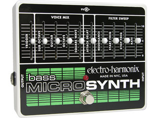 electro harmonix エレクトロハーモニクス 正規販売店 Bass Micro 国内正規品 アナログシンセサイザー Synthesizer メイルオーダー ベース用