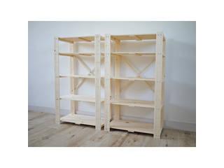 【代引不可商品】木製ラック5段2個組 ナチュラル  TNMR-10560N-2P