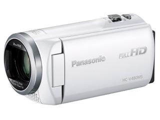 【お得な32GB SDHCカードセットもあります!】 Panasonic/パナソニック HC-V480MS-W(ホワイト) デジタルハイビジョンビデオカメラ