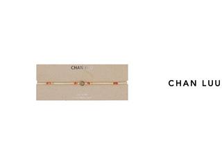 CHAN LUU/チャンルー セミプレシャスストーン レザーラップネックレス NG-13283(LABRADORITE 3) チャンルーオリジナル巾着袋付き!