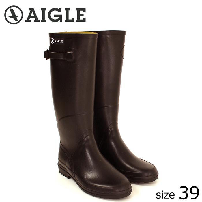 ≪正規品≫ AIGLE/エーグル ラバーレインブーツ CHANTEBELLE (BRUN/サイズ39:24.5) ロング レインブーツ ブラン