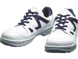 Simon/シモン 安全靴 短靴 8611白/ブルー 25.0cm 8611WB-25.0